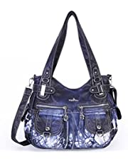 Angelkiss 5739/1, Borsa a spalla donna M, (Bleu3), Medium