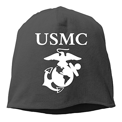 Usmc Skull Cap (Unisex Fashion Cuff Usmc Logo Retro Warm Winter Hat)