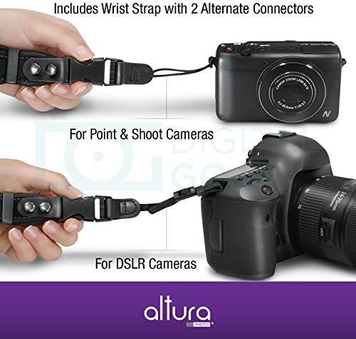 Compatible with Philips CAM110SL//00 /& CAM110RD//00 Camcorders DURAGADGET Handy Black Camera Wrist Strap
