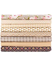 """E&EY Fat Quarters Quilting Fabric Bundles 19"""" x 20"""" inches, for Patchwork Sewing Crafting Print Floral"""
