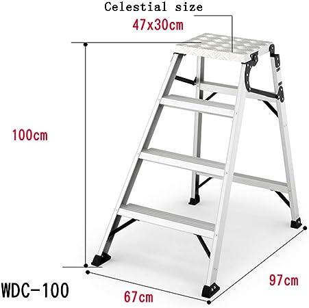 ZR- Escalera Escalonada Aleación Aluminio Escalera Escalonada Doble Cara Escalera Escalonada Plegable Escalera Seguridad Para El Hogar Tipo a La Escalera Escalonada Servicio Pesado Soporta Hasta 150 K: Amazon.es: Hogar