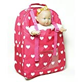 Baby Doll Carrier Backpack - Fits American Girl dolls - Divided Compartments for Storage -View all Pictures - Great Doll Toy Gift For Girls