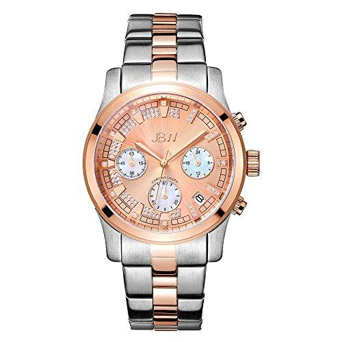 JBW Luxury Women's Alessandra Diamond Wrist Watch with Stainless Steel Bracelet (Rose Gold/Silver)