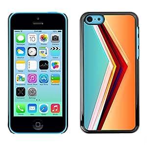 LECELL -- Funda protectora / Cubierta / Piel For Apple iPhone 5C -- svet cvet linii ugol obem --