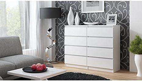 Com/ò con 8 cassetti 120 cm per camera da letto e soggiorno BIM Furniture Marbella multiuso