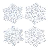 Kitchen & Housewares : Beistle 4-Pack Packaged Glittered Snowflake Cutouts, 14-Inch