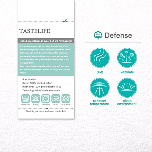 TASTELIFE Cal King Waterproof Mattress Pad Protector Cover  Fitted 8  21 Deep Pocket  Hypoallergenic
