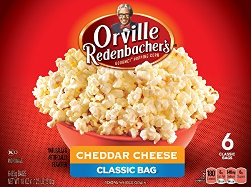 Orville Redenbacher's Gourmet Cheddar Cheese Microwave Popcorn, 6 Count, 18 Ounce by Orville Redenbacher's