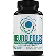 Brain Booster Supplement for Focus, Memory, Clarity, Energy - 60 Veggie Pills. Cognitive Function Support for Optimal Mental Performance, Advanced Stack Smart Natural Extra Strength Premium Formula