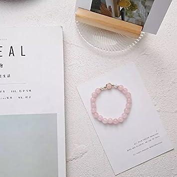 Amazon.com : South Korea pink natural crystal charm bracelet Dr. Peach transport bracelets handmade fresh sweet little girl : Beauty