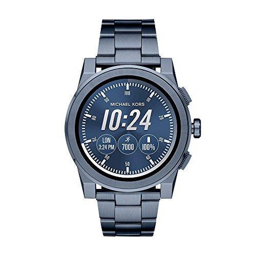 Michael Kors Access, Men's Smartwatch, Grayson Navy-Tone Stainless Steel, MKT5027