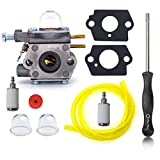 HIFROM Carburetor with Gasket Primer Bulbs Fuel Line Screwdriver Tool for Walbro # WT-973 Fits Troy-bilt TB21EC TB22EC TB32EC TB42BC TB80EC TB2040XP 753-06190