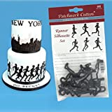 Patchwork Cutters - Running Silhouette Set - Sugarpaste cake decoration cutters