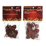 Scorpion Pepper Bundle: Dried Trinidad Moruga Pepper Pods and Dried Butch-T Chili Pepper Pods