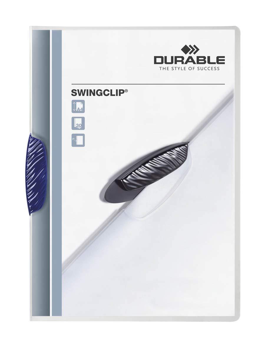 Durable 226000 Confezione da 25 Pezzi Swingclip Capacit/à 30 Fogli Cartellina Portadocumenti con Clip Laterale Ellittica Formato A4 Assortiti