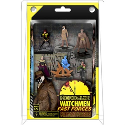 DC Heroclix Watchmen 2011 Fast Forces Deluxe Starter Game Includes 6 - Dc Map Heroclix