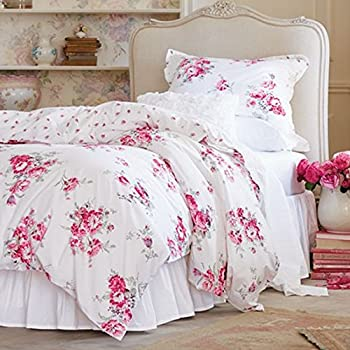 Simply Shabby Chic Sunbleached Floral 2 Piece Duvet Cover Set, Size: Twin