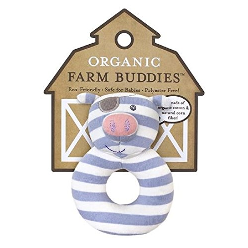 Organic Farm Buddies Rattle, Pirate Pig