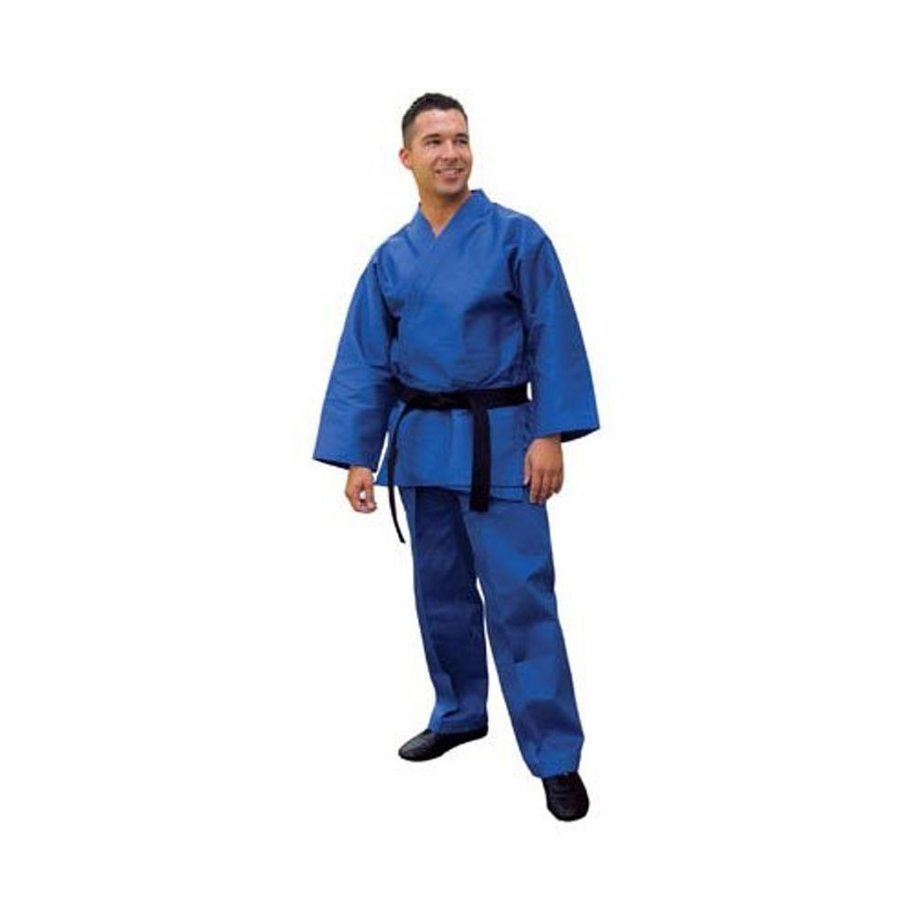 Tiger Claw Traditional Karate Uniform (Blue, 7) by Tiger Claw