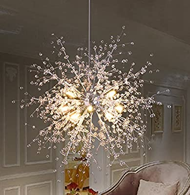 DNS Modern Crystals Chandeliers,Ceiling Lights Fixtures,Pendant Lighting for Living Room Bedroom Restaurant Porch Dining Room,One Rings