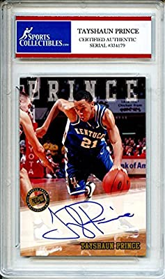 Tayshaun Prince 2002 Press Pass Kentucky Wildcats Autographed Trading Card - Certified Authentic