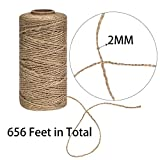 Jute Twine String For Crafts, Bakers Twine Rope - 2 Pack, Total 1312 Feet