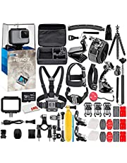 $219 » GoPro HERO7 White - Waterproof Action Camera with Touch Screen, Full HD Video, 10MP Photos, and Stabilization - with 64GB Micro Sd Card and 50 Piece Accessory Kit - Fully Loaded Bundle
