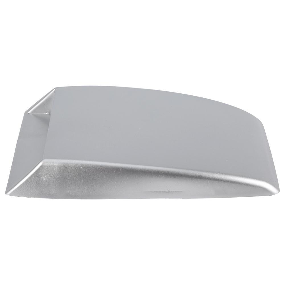 Keenso Universal Auto Dekorative Luftzug Ansaughaube Scoop Motorhaube Vent Aufkleber Abdeckung Silber