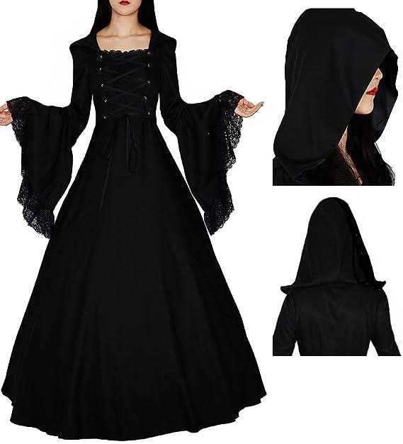 Amazon.com: Loli Miss - Vestido de bruja gótica para mujer ...