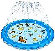 Homech Sprinkler for Kids, Splash Pad, Outdoor Inflatable Sprinkler Water Toys, Wading and Learning, 68