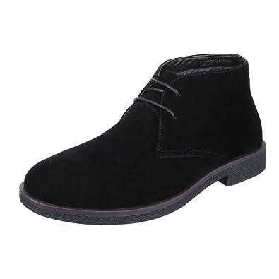 Ital-Design Stiefeletten Herren Schuhe Desert Boots Blockabsatz Moderne  Schnürsenkel Boots Schwarz, Gr 40 2730173247