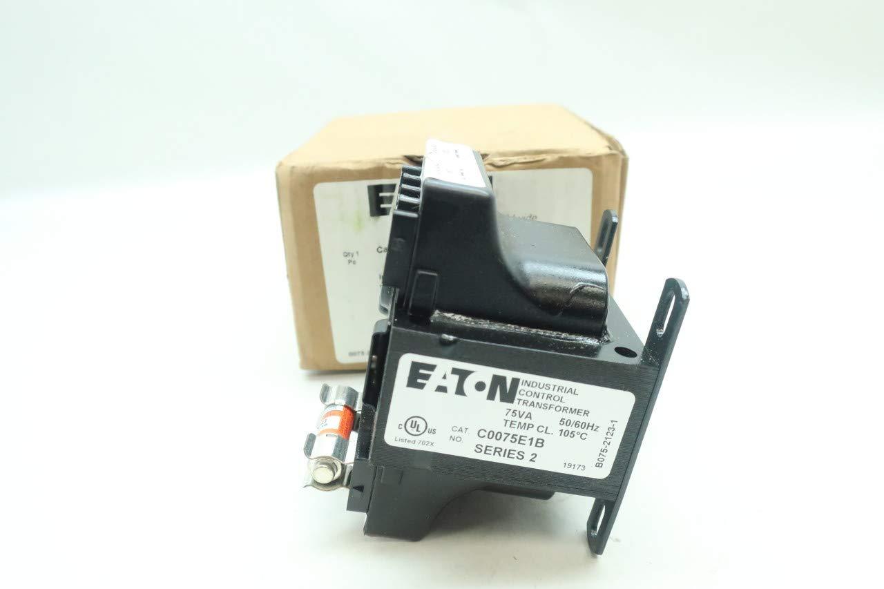 EATON C0075E1B Voltage Transformer 75VA 120//240V-AC 24V-AC