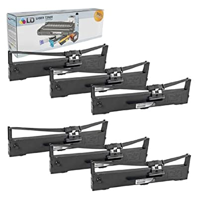 LD © Epson Compatible Replacement 6 Pack Black Printer Ribbon Cartridges - S015337 for the Epson LQ-590 Impact Printer