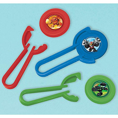 Skylanders Party Favor Set Rubber Wristband Bracelets and 12 Disc Shooters