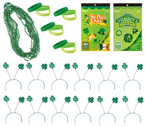 38 Piece Bulk St Patrick's Day Themed Party Favor Assortment and Parade Wear Bundle -