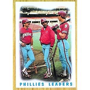 1987 Topps #481 Phillies Team (Glenn Wilson / Juan Samuel) Philadelphia Phillies (Team Leaders) (Baseball Cards)