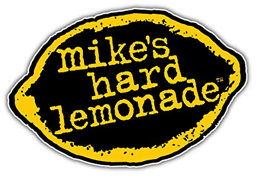 Mike's Hard Cranberry Lemonade Lemone Logo Sticker Car Bumper Decal 5'' X 3''