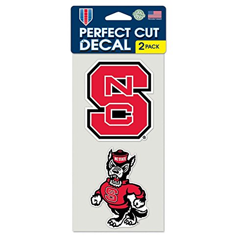 WinCraft NCAA North Carolina State University Perfect Cut Decal (Set of 2), 4