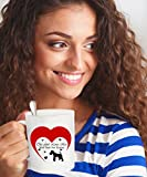 This Girl Loves Her Wire Fox Terrier Dog White Coffee Mug - 15 oz Novelty Tea Cup - Ceramic