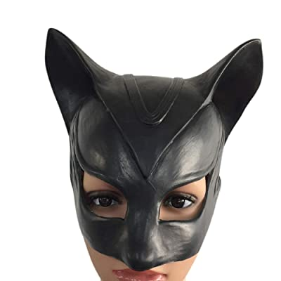 Bingirl Halloween Black Demon Cat Mask Bat Design Masquerades Mask Party Costume Accessory for Gift: Toys & Games