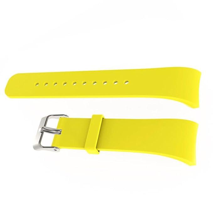 Correa de Reloj Ligero, YpingLonk Silicona para Samsung Gear Fit2 Pro Watch Original Pulsera Banda Ligero Ventilar Lanzamiento Rápido Ajustable Relojes ...