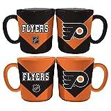 Memory Company NHL Philadelphia Flyers Chevron Salt & Pepper Shaker Mugs, One Size, Multicolor