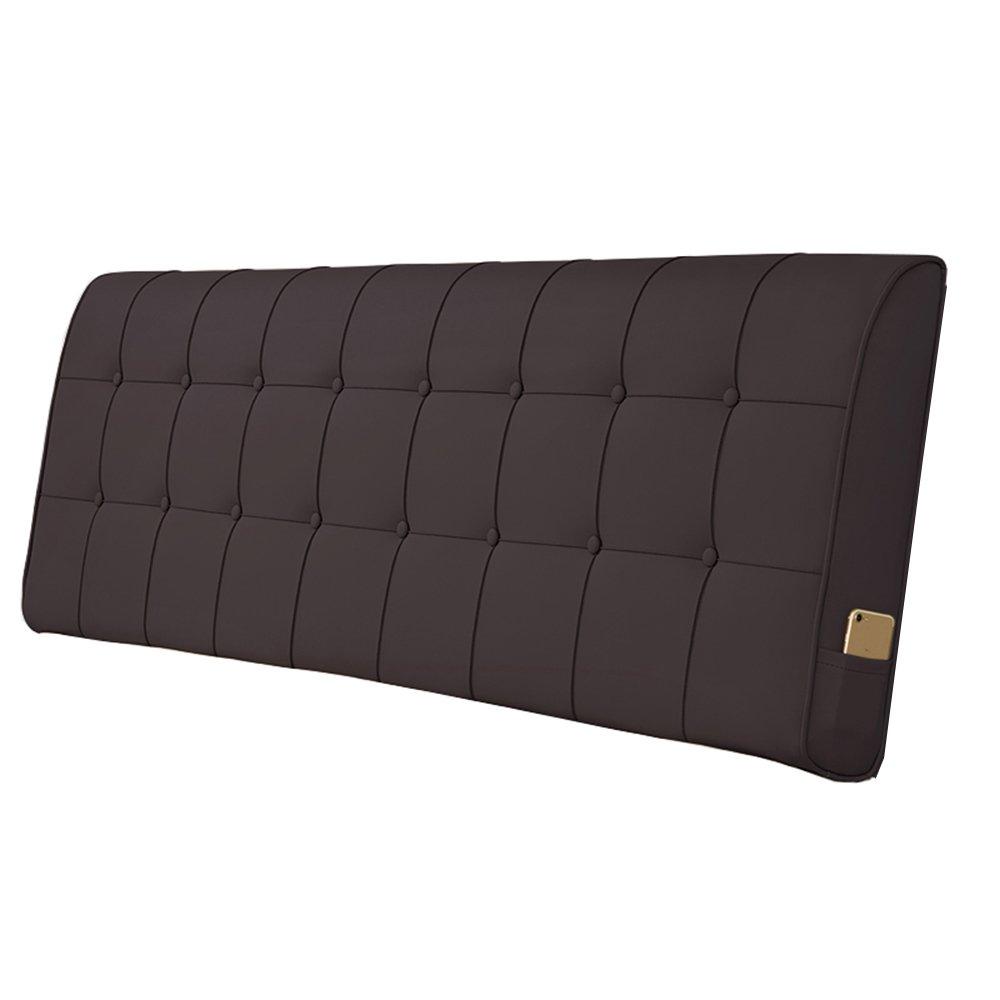 ヨーロッパベッドサイドサポート背もたれクッションランバーサポート枕人工レザー枕カバー5サイズ – For Beds without Headboard 180 * 10 * 60cm 180*10*60cm E B07FN39SBW