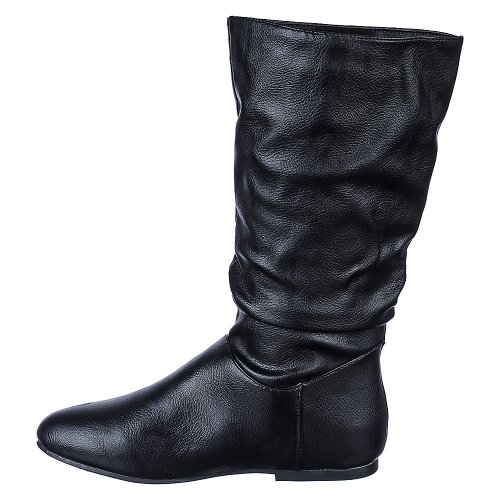 Bamboo Womens Tiktok-58 Boot Black nCFvrwgk6