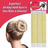 Hawwwy 3-Piece Hair Bun Maker, Easy Snap-and-Roll