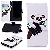 Galaxy S9 Wallet Case,PU Leather Cover for Samsung S9,Leecase Retro Cool Pretty Tree Panda Pattern Design Flip Stand Phone Case Cover Wallet Handset Shell Bookstyle Cellphone Skin Pouch with Magnetic Closure Card Slots Folio Protective Pocket Bumper Cover Skin for Samsung Galaxy S9 + 1x Black Stylus