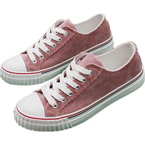SHFANG Zapatos De La Señora Zapatos De Lona Correa De Fondo Plano Cómodo Movimiento De Ocio Estudiantes Compras Diariamente Tres Colores Watermelon Red