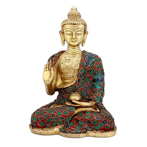 CraftVatika Thai Buddha Blessing Peace Harmony Statue, 10.5''H by CraftVatika