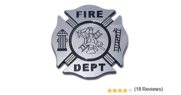 Fire Department Firefighter Maltese Cross Premium Black /& Chrome Plated Metal Car Truck Motorcycle Emblem Elektroplate FIRE-BLACK-C