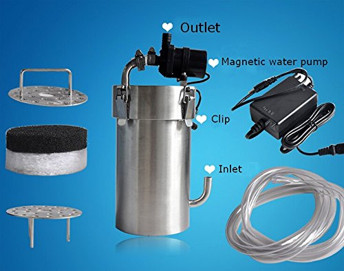 24v Stainless Steel External Aquarium Filter Canister Pump Fish Tank 9l/min,fish Tank Strainer#140092
